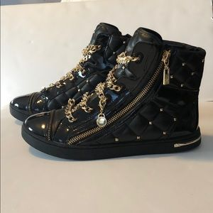 MK Gold and Black Sneakers